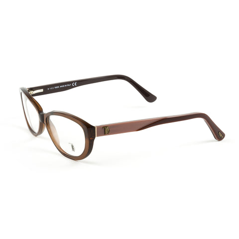 TOD'S Matte Light Brown Oval Eyeglass Frames TO5101-046 NEW
