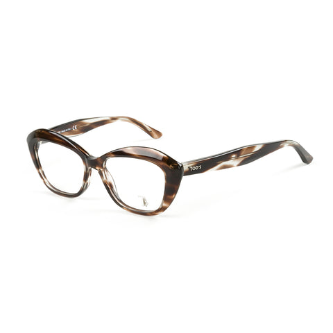 TOD'S Brown Horn Semi-Cateye Eyeglass Frames TO5115-048 NEW