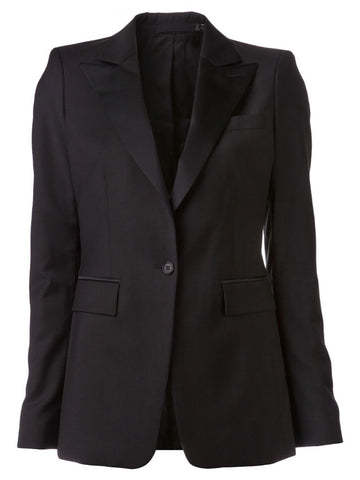 BLK DNM Women's Black Tux Jacket 10 #WKW2101 US 4 $695 NWT