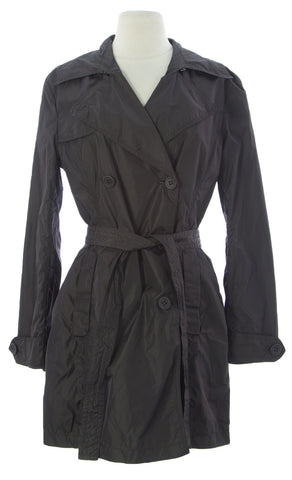 ADD Women's Bitter Chocolate Belted Tunic Polyamide Jacket UAW006 $250 NEW