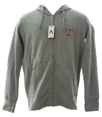 ANTIGUA Men's Grey Heather Signature Full Zip Sweatshirt 100304 $53 NEW
