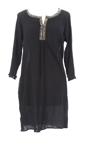VELVET by Graham & Spencer Women's Antracite Embellished Tunic $128