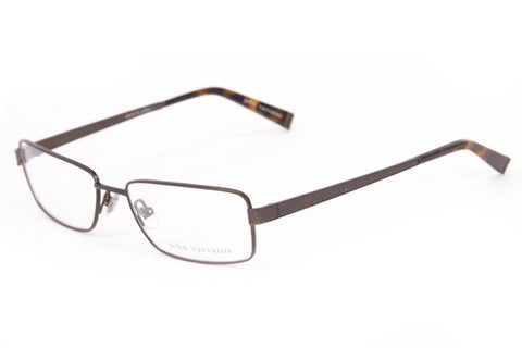 JOHN VARVATOS Men's Brown Metal Eyeglass Frames V134 $270 NEW