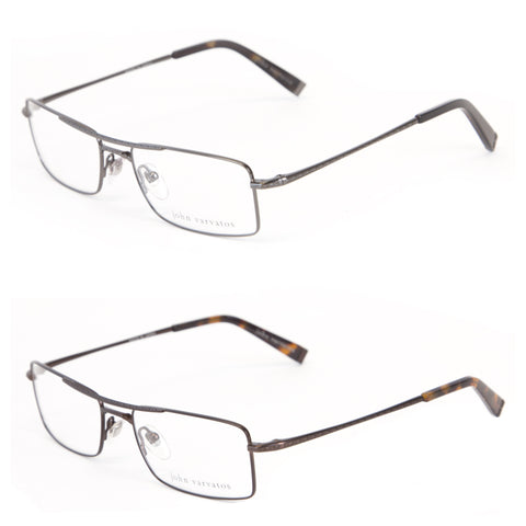 JOHN VARVATOS Men's Brow Bar Eyeglass Frames V138 $270 NEW