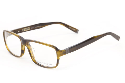 JOHN VARVATOS Men's Olive Horn Base Curve Eyeglass Frames V340 $270 NEW