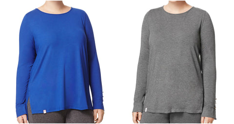 MARINA RINALDI Women's Vanga Button Accent Top $190 NWT