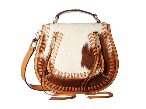 REBECCA MINKOFF Small Calf Hair Vanity Saddle Bag $325 NEW