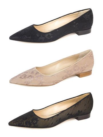 MAX MARA Women's Valreas Lace Pointed Toe Flats $545 NIB