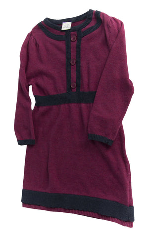 EGG BY SUSAN LAZAR Toddler Girl's Plum Classic Knit Dress W3CK648T $70 NEW