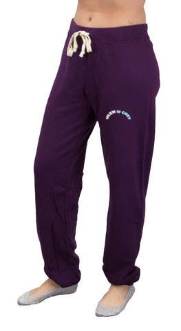 WARM X BANDIER Women's Purple Drawstring Sweatpants $175 NWT