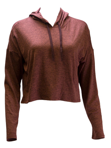 WE OVER ME X BANDIER Women's Light Rusted Red Zen Hoodie Small $95 NWOT