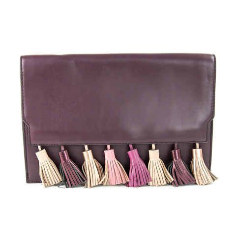 REBECCA MINKOFF Dark Cherry Multi Sofia Clutch Bag $245 NEW