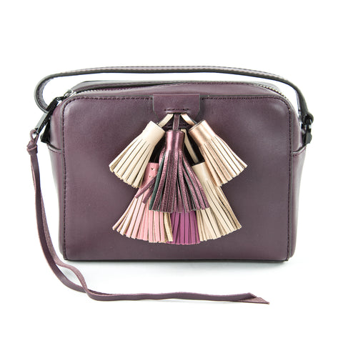 REBECCA MINKOFF Dark Cherry Multi Mini Sofia Crossbody Bag $245 NEW