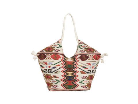 ROBERTA ROLLER RABBIT Women's Multicolor Aztec Print Zayna Tote $125 NEW