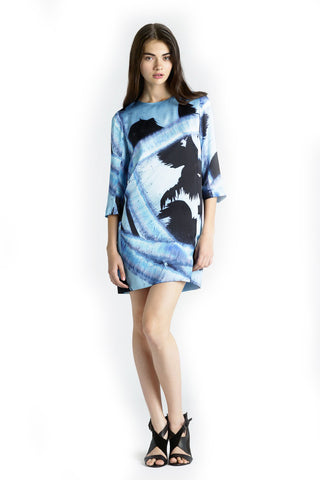 SURFACE TO AIR Women's Sunrise Print 3/4 Sleeve Dress $260 NEW