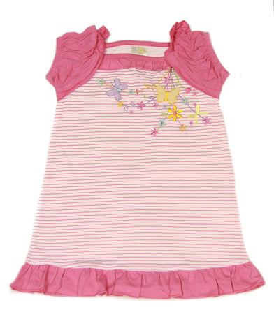 ABSORBA Toddler Girl's Striped Ruffled Cap Sleeve Dress 2T 3T 4T ATTG5244