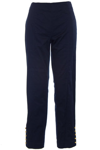 ELIZABETH MCKAY Navy Blue Flat Front Audrey Chino Pants 1070 $175 NWT