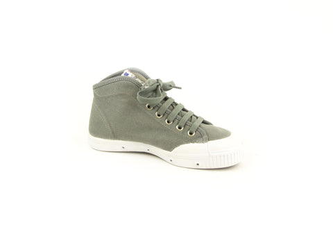 SPRING COURT Women's Grey Canvas B1 Midcut W Sneakers NEW