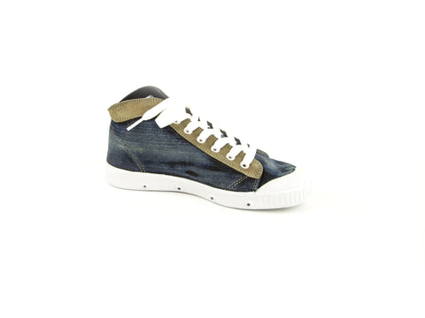 SPRING COURT Women's Stonewash Denim B2 Eyestay Sneakers NEW