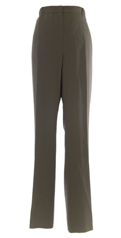 MARINA RINALDI by MaxMara Bagnare Olive Unhemmed Dress Pants $430 NWT