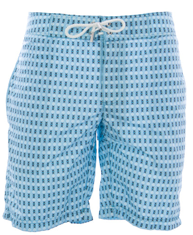 NAILA Men's Light Blue Bewick Print Swim Trunks BE-S11-2 $110 NEW