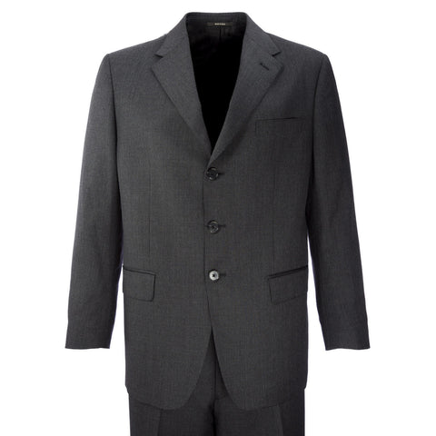 BERRY Soft Black Two-Piece Textured Wool Jacket / Pant Suit MA0131F $671 NWT