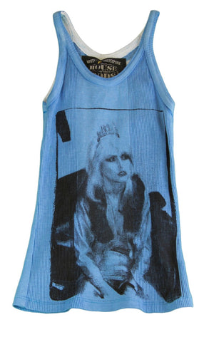 HOUSE OF THE GODS Girl's Blue Printed Tank Top BL10BLL1B NEW