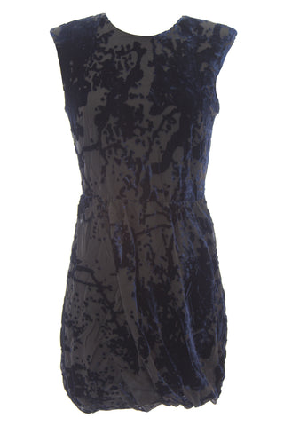 DOLCE VITA Women's Brette Navy Velvet Cut-out Back Sleeveless Dress $198 NEW