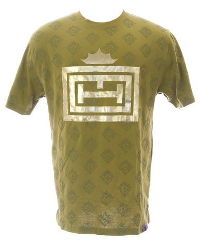 THUG Men's Bronze Green Golden Crown Crew Neck T-Shirt #12207 NEW