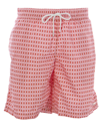 NAILA Men's Salmon Printed Drawstring Swim Trunks CAL-S11-4 $110 NEW