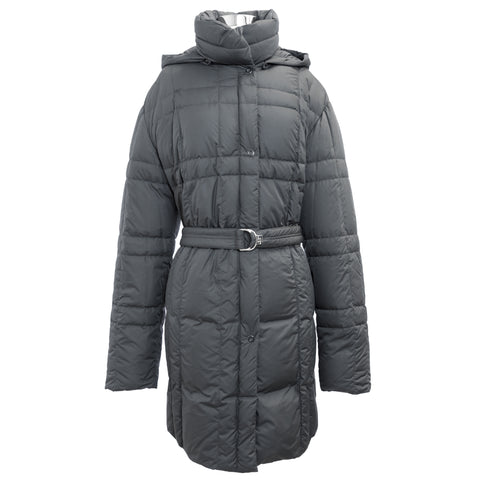 CBY Meteorite Grey Down Water Block Long Puffer Amelie Coat M7L1190 $502 NWT