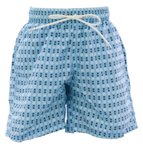 NAILA Boy's Light Blue Printed Swim Trunks CHARLBLUE $85 NEW