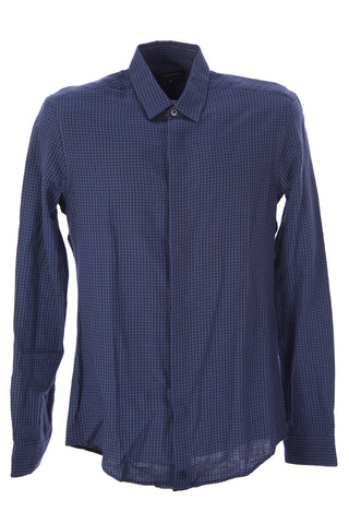 SURFACE TO AIR Men's Navy + Ciment Classic Shirt $210 NEW