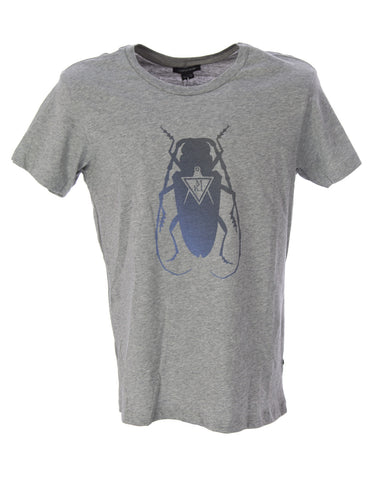 SURFACE TO AIR Men's Grey Melange Cockroach T-Shirt $85 NEW