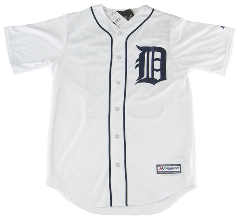 MAJESTIC Men's White Detroit Tigers Cespedes #52 Home Jersey $196 NEW