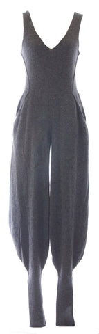 DIESEL Women's Grey Tuta Harem Leg Wool Sleeveless Jumpsuit #00AE9Q NEW
