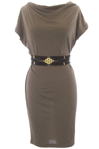 SuperTrash Women's Soft Brown Boatneck Dulsa Dress ST00918 $159 NEW