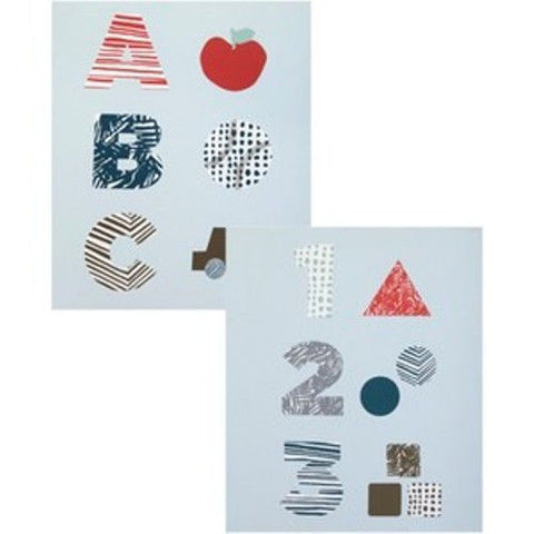DWELL STUDIO by Graham & Brown ABC / 123 Sky Set Of 2 Wall Art $168 NWT