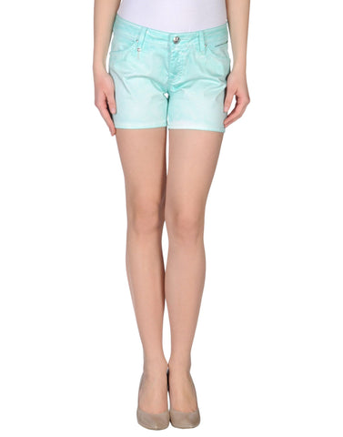 LEROCK Women's Tiffany Blue Swarovski Crystal Embellished Shorts Sz 26 NEW