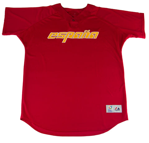 MAJESTIC Men's Red España World Baseball Classic Jersey WBYWB69 $80 NEW