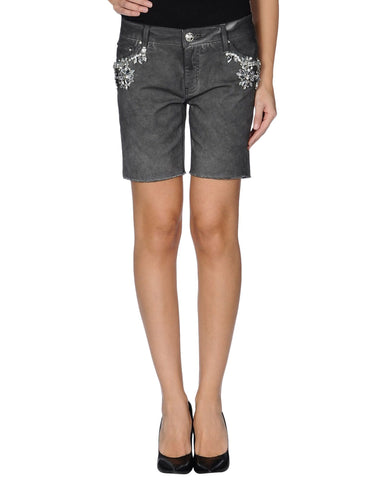 LEROCK Women's Black Jeweled Cut-Off Shorts NEW