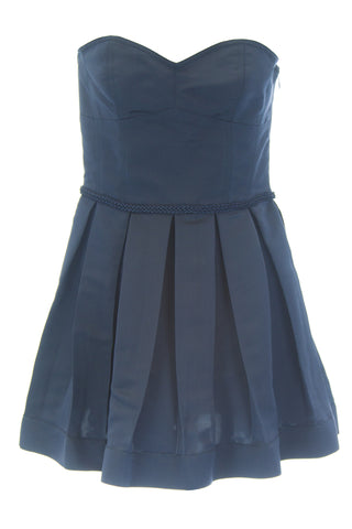 ANNE LEMAN Women's Navy Strapless Pleated Fabiola Dress SP91DR14 $548 NEW