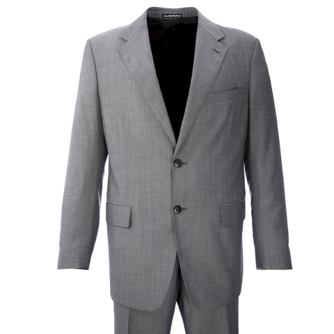 FACIS Classic Grey Two-Piece Virgin Wool Suit 82F2 Sz IT 54R $652 NWT
