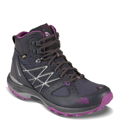 The North Face Women Shadow Grey/Purple Ultra Fastpack GTX Hiking Shoes Sz 5 NEW
