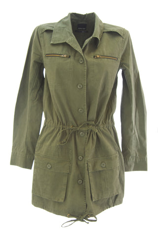 DOLCE VITA Women's G.I. Olive Green Cotton Drawstring Military Jacket $209 NEW