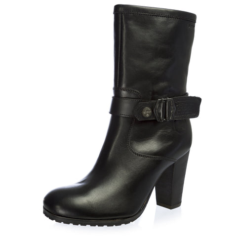 G-STAR Raw Women's TRYST Ode Black Leather Heeled Boots GS32860/000 NEW
