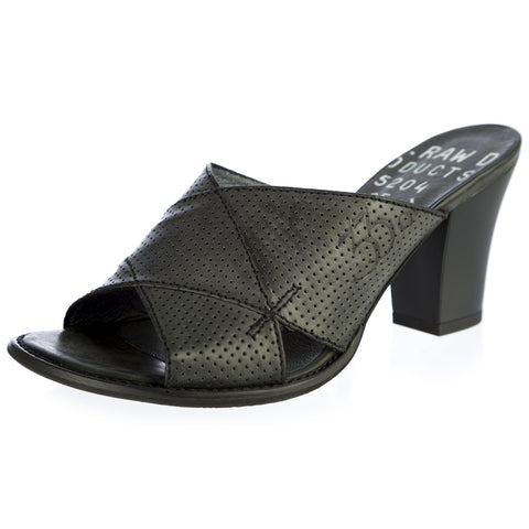 G-STAR Raw Women's VENTURA Rosa Black Perforated Leather Heels GS33601/PX0 NEW