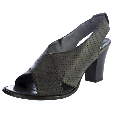 G-STAR Raw Women's VENTURA Valentina Black Perforated Leather Heels GS33610/PX0