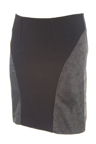 DOLCE VITA Womens Harper Black Faux Leather High Waisted Pencil Skirt $165 NEW