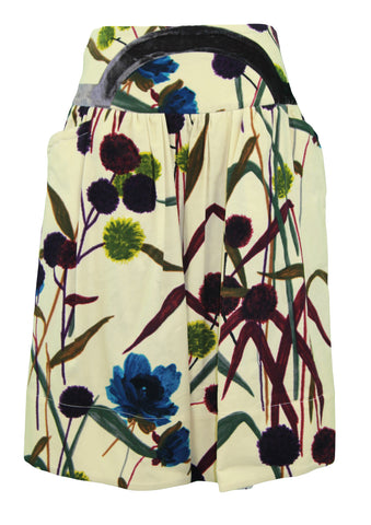 ISOLA MARRAS Women's Multi-Color Corduroy Knee Length Skirt US Sz 26 NWT $347